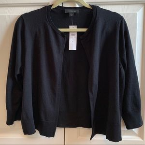 NWT Ann Taylor Cropped Open Cardigan Size Large